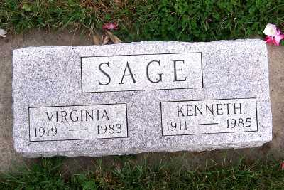 SAGE, KENNETH - Sioux County, Iowa | KENNETH SAGE