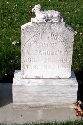 SANDBULTE, HENRY BURNERD - Sioux County, Iowa | HENRY BURNERD SANDBULTE