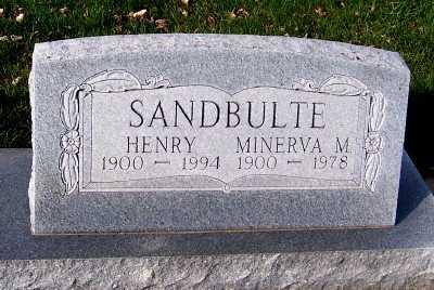 SANDBULTE, MINERVA M. - Sioux County, Iowa | MINERVA M. SANDBULTE