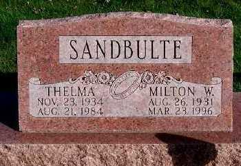 SANDBULTE, THELMA - Sioux County, Iowa | THELMA SANDBULTE