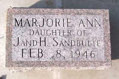 SANDBULTE, MARJORIE ANN - Sioux County, Iowa | MARJORIE ANN SANDBULTE