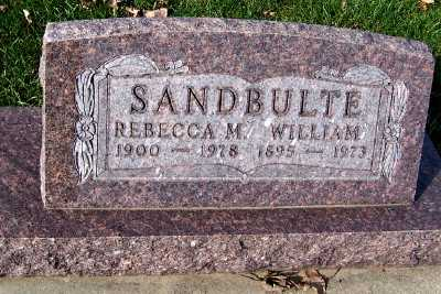 SANDBULTE, WILLIAM - Sioux County, Iowa | WILLIAM SANDBULTE