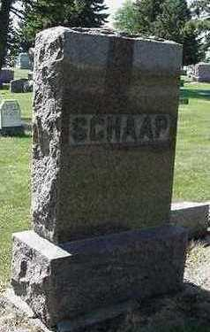 SCHAAP, HEADSTONE - Sioux County, Iowa | HEADSTONE SCHAAP