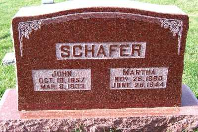 SCHAFER, MARTHA - Sioux County, Iowa | MARTHA SCHAFER