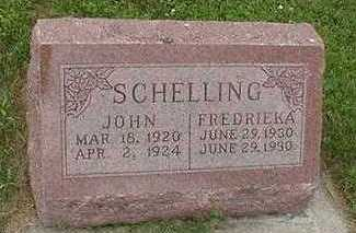 SCHELLING, JOHN - Sioux County, Iowa | JOHN SCHELLING