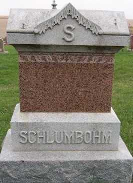 SCHLUMBOHM, HEADSTONE - Sioux County, Iowa | HEADSTONE SCHLUMBOHM