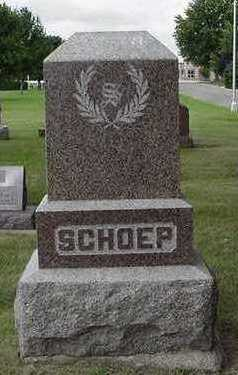 SCHOEP, HEADSTONE - Sioux County, Iowa | HEADSTONE SCHOEP