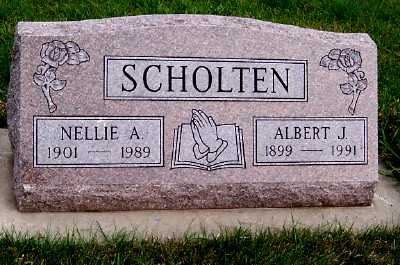 SCHOLTEN, ALBERT J. - Sioux County, Iowa | ALBERT J. SCHOLTEN