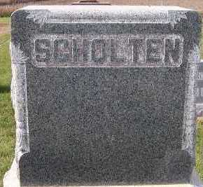 SCHOLTEN, FAMILY HEADSTONE - Sioux County, Iowa | FAMILY HEADSTONE SCHOLTEN