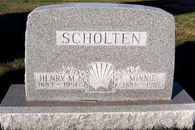 SCHOLTEN, MINNIE - Sioux County, Iowa | MINNIE SCHOLTEN