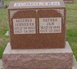SCHOLTEN, JAN - Sioux County, Iowa | JAN SCHOLTEN