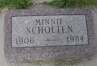 SCHOLTEN, MINNIE  D.1984 - Sioux County, Iowa | MINNIE  D.1984 SCHOLTEN