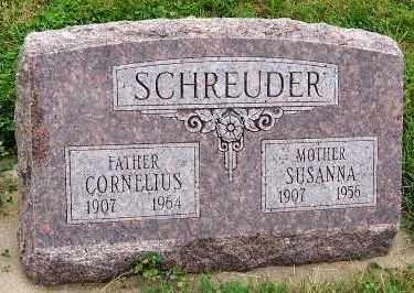 SCHREUDER, SUSANNA - Sioux County, Iowa | SUSANNA SCHREUDER