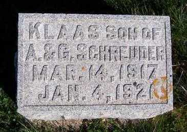 SCHREUDER, KLAAS (SON OF A. & G.) - Sioux County, Iowa | KLAAS (SON OF A. & G.) SCHREUDER