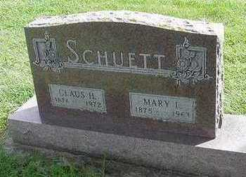 SCHUETT, MARY I. (MRS. CLAUS) - Sioux County, Iowa | MARY I. (MRS. CLAUS) SCHUETT