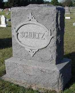 SCHULTZ, HEADSTONE - Sioux County, Iowa | HEADSTONE SCHULTZ