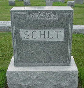 SCHUT, HEADSTONE - Sioux County, Iowa | HEADSTONE SCHUT
