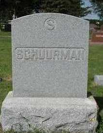 SCHUURMAN, HEADSTONE - Sioux County, Iowa | HEADSTONE SCHUURMAN