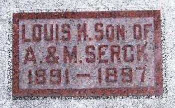 SERCK, LOUIS H. (SON OF A. & M.) - Sioux County, Iowa | LOUIS H. (SON OF A. & M.) SERCK