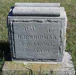 SHIPMAN, KITTIE (MRS. H. R. ) - Sioux County, Iowa | KITTIE (MRS. H. R. ) SHIPMAN