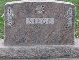 SIEGE, HEADSTONE - Sioux County, Iowa | HEADSTONE SIEGE