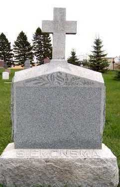 SIEMONSMA, HEADSTONE - Sioux County, Iowa | HEADSTONE SIEMONSMA