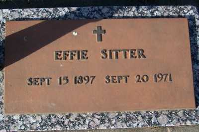 SITTER, EFFIE - Sioux County, Iowa | EFFIE SITTER