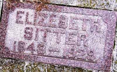 SITTER, ELIZABETH - Sioux County, Iowa | ELIZABETH SITTER