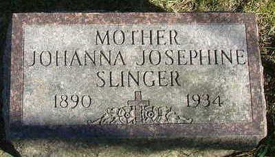 SLINGER, JOHANNA JOSEPHINE - Sioux County, Iowa | JOHANNA JOSEPHINE SLINGER