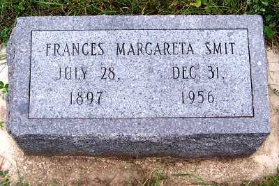 SMIT, FRANCES MARGARETA - Sioux County, Iowa | FRANCES MARGARETA SMIT