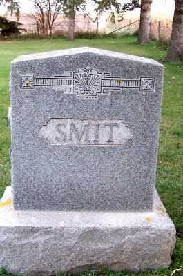 SMIT, HEADSTONE - Sioux County, Iowa | HEADSTONE SMIT