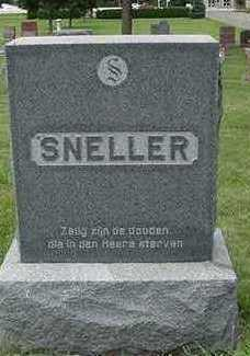 SNELLER, HEADSTONE - Sioux County, Iowa | HEADSTONE SNELLER