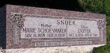 SCHOENMAKER SNOEK, MARIE - Sioux County, Iowa | MARIE SCHOENMAKER SNOEK
