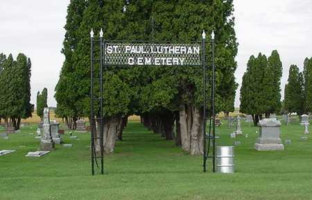 ST. PAUL'S LUTHERAN, CEMETERY PICTURE - Sioux County, Iowa | CEMETERY PICTURE ST. PAUL'S LUTHERAN