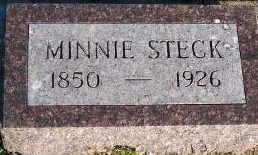 STECK, MINNIE - Sioux County, Iowa | MINNIE STECK