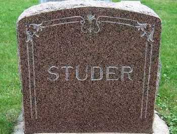 STUDER, HEADSTONE - Sioux County, Iowa | HEADSTONE STUDER