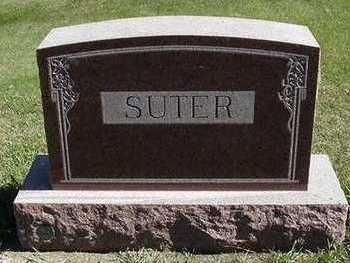 SUTER, HEADSTONE - Sioux County, Iowa | HEADSTONE SUTER