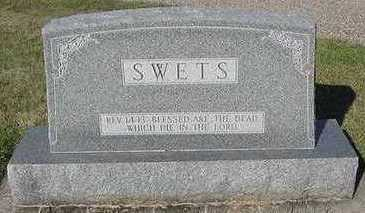 SWETS, HEADSTONE - Sioux County, Iowa | HEADSTONE SWETS