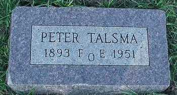 TALSMA, PETER - Sioux County, Iowa   PETER TALSMA