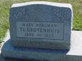 TEGROTENHUIS, MARY - Sioux County, Iowa | MARY TEGROTENHUIS