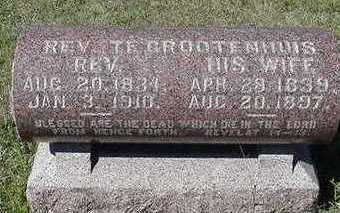 TEGROTENHUIS, REV. - Sioux County, Iowa | REV. TEGROTENHUIS