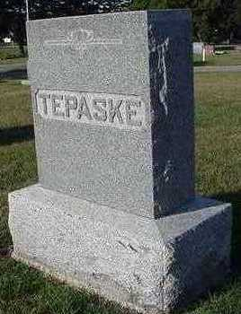 TEPASKE, HEADSTONE - Sioux County, Iowa | HEADSTONE TEPASKE