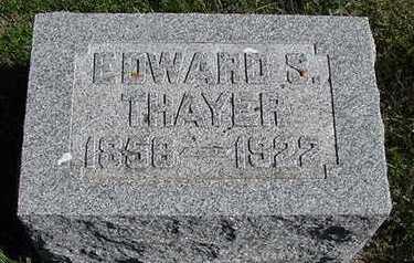 THAYER, EDWARD S. - Sioux County, Iowa | EDWARD S. THAYER