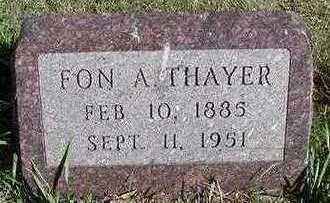 THAYER, FON A. - Sioux County, Iowa | FON A. THAYER