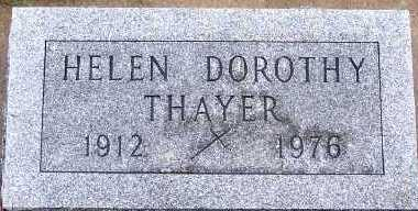 THAYER, HELEN DOROTHY - Sioux County, Iowa | HELEN DOROTHY THAYER