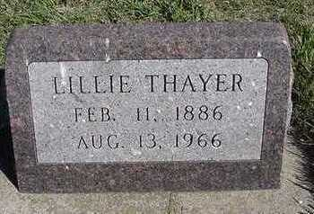 THAYER, LILLIE - Sioux County, Iowa | LILLIE THAYER