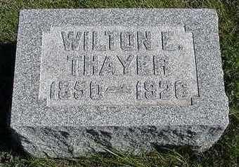 THAYER, WILTON E. - Sioux County, Iowa   WILTON E. THAYER