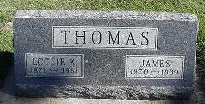 THOMAS, LOTTIE K. (MRS. JAMES) - Sioux County, Iowa | LOTTIE K. (MRS. JAMES) THOMAS