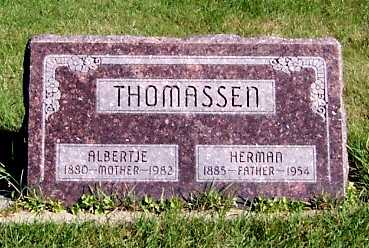 THOMASSEN, ALBERTJE - Sioux County, Iowa | ALBERTJE THOMASSEN