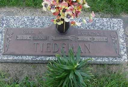 TIEDEMAN, PEARL M. (MRS. LAWRENCE) - Sioux County, Iowa | PEARL M. (MRS. LAWRENCE) TIEDEMAN